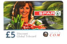 Ireland - Eire - Irland - Prepaid Card Calling Card - Switchcom Switch Com - Spar - Girl Femme Woman - Ireland
