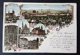Litho Gruss Aus Neisse, Opole, Gelaufen 1897 - Poland