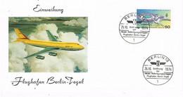 41969. Tarjeta BERLIN (Alemania Berlin) 1974. Flughafen Berlin - Tegel. Aeropuerto - Briefe U. Dokumente