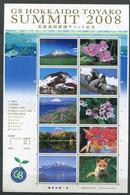 Japon ** N° 4374 à 4383 En Feuille. Sommet Du G8 2008 à Toyako - - Neufs