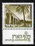 Israel 1971-79 Landscapes £1.10 Aqueduct Near Akko With One Phosphor Band Unmounted Mint With Tab SG 508p - Ungebraucht (mit Tabs)