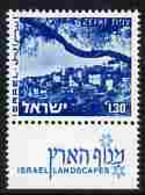 Israel 1971-79 Landscapes £1.30 Zefat With One Phosphor Band Unmounted Mint With Tab SG 508apa - Ungebraucht (mit Tabs)