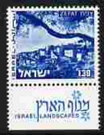 Israel 1971-79 Landscapes £1.30 Zefat With Two Phosphor Bands Unmounted Mint With Tab SG 508ap - Ungebraucht (mit Tabs)