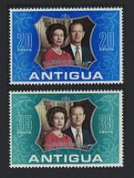 Antigua And Barbuda Royal Silver Wedding 2v 1972 MNH SG#339-340 - 1960-1981 Autonomie Interne