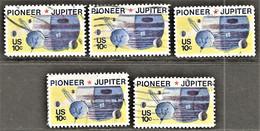 United States - Scott #1556 Used - 5 Different - Plate Blocks & Sheetlets
