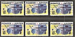 United States - Scott #1556 Used - 6 Different (1) - Plate Blocks & Sheetlets