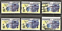 United States - Scott #1556 Used - 6 Different (2) - Plate Blocks & Sheetlets