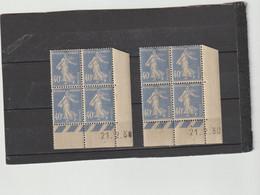 N° 237 - 40c SEMEUSE - Paire T+U - Tirage Du 30.1.30 Au 22.2.30 - 21.02.1930 - - 1930-1939