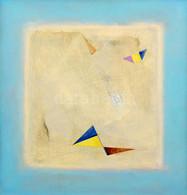 Gyulai Lajos (1945-): Zászlók (cím Nélkül), 2006. Olaj, Fa. Jelzett A Hátoldalán. Fa Keretben. 40x37,5 Cm. / Oil On Wood - Non Classificati