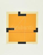 Konok Tamás (1930-2020): Konstruktivista Kompozíció, 1991. Szitanyomat, Papír, Jelzett, Számozott (29/40), 28×28 Cm - Non Classificati