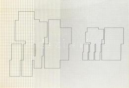 Kovács Attila (1938-2017): Koordináta Geometria, Szitanyomat, 1973/75, 91/100, 60x80cm, Jelzett A Hátoldalán. Üvegezett  - Non Classificati