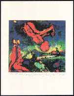 Joseph Kádár (1936-2019): Színes Kompozíció. Elektrográfia, Papír, Jelzett. Művészpéldány E. A. Jelzéssel. 19x21 Cm - Non Classificati