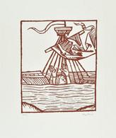 Nagy Pál (1934-): Hajótöröttek. Szitanyomat, Papír, Jelzett, Művészpéldány EA. Jelzéssel. 30,5×25,5 Cm / Screenprint On  - Non Classificati