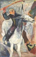 Kelemen Emil (1895-1975): Szamárháton, 1928. Olaj, Vászon, Jelzett. Hátoldalán Datált. Javított. Fa Keretben, 88x68 Cm / - Non Classificati