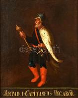XVIII. V. XIX. Sz. Ismeretlen Magyar Festő: Árpád Fejedelem Portréja (Arpad I. Capitaneus Ungaror). Olaj, Vászon. Jelzés - Non Classificati