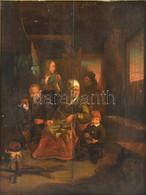 XVII. Vagy XVIII. Sz. Holland Festő Alkotása, Jelzés Nélkül (Adrian Van Ostade Köre?): Család. Olaj, Fatábla. Sérült. Fa - Non Classificati