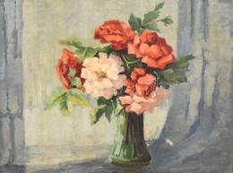 Emy Rogge (1866-1959), Német Festőnő, Működött 1922-től Worpshausenben, Worpswede Mellett: Csendélet. Olaj, Vászon. Kiss - Non Classificati