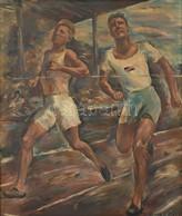 Jozef Korolkiewicz (1902-1988): Futó Olimpikonok 1932. (1932. évi Nyári Olimpiai Játékok, Hivatalos Nevén A X. Nyári Oli - Non Classificati