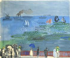 Raoul Dufy (1877-1953): Le Havre. (612/5000) Litográfia, Papír, Jelzés Nélkül, 46x56cm, üvegezett Fakeretben, (Le Havre  - Non Classificati
