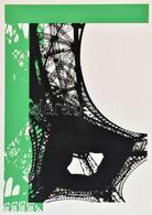 Hervé, Rodolf (1957-2000): Eiffel-torony. Szitanyomat, Papír, Jelzett. 35x24,5 Cm. / Hervé, Rodolf (1957-2000): Eiffel-t - Non Classificati