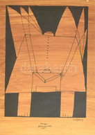 Székely Pierre (1923-2001): Ange Atemporel. Monotípia, Papír, Jelzett, üvegezett Fa Keretben, 41x29 Cm - Non Classificati