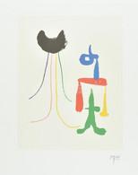 Joan Miró (1893-1983): Parler Seul, 1948/2004. Computer Print, Papír. Jelzett A Print Alatt Nyomtatva. Hátoldalán Succes - Non Classificati