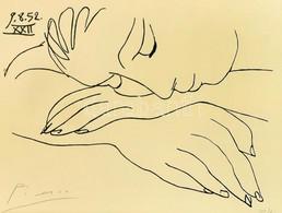 "Pablo Picasso (1881 - 1973): "" Visage De La Paix "" (A Béke Vagy A Nyugalom Arca). Litográfia, Papír. Jelzett. Sorszámozo - Non Classificati"