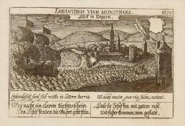 XVII. Sz. Első Harmada-közepe Daniel Meisner (1585-1625): 'Errantibus Viam Monstrare', Siseck In Ungarn (Sziszek Vára Ma - Incisioni