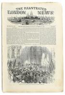1847 Lánchíd Fametszetű Illusztrációja A The Illustrated London News 1847. Nov. 20. Számában, Angol Nyelvű Rövid Híradás - Incisioni