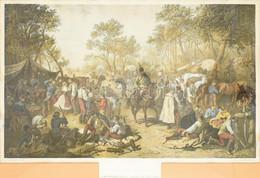 Goebel Károly (1824-1899) Festmény Után Kőbe Rajzolta Engerth Vilmos (1818-1884) Pesten: Huszár-tábor. A Magyarországi M - Incisioni