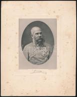 Cca 1900 Ferenc József (1830-1916) Osztrák Császár és Magyar Király, Heliogravűr (fénnyomat), Facsimile Aláírással, Kiss - Incisioni