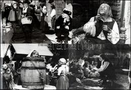 """Cca 1959 Franciaország, ,,A Púpos"""" Című Francia Film 8 Db Produkciós Filmfotója, Pánczél György (1920-?) Filmtörténész H - Non Classificati"""