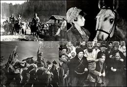 """Cca 1965 Szovjetunió, ,,Tizenkilencen"""" Című Szovjet Film 13 Db Produkciós Filmfotója, Pánczél György (1920-?) Filmtörtén - Non Classificati"""