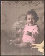Cca 1940 Kőrösladány, Kézzel Színezett Vintage Fotó, Somogyi Mária Fényképész Pecsétjével, Kasírozva, 30,5x24 Cm - Non Classificati