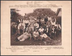 1936 Fehérvárcsurgó, Guti Gábor ötvenéves Jubileumán Készült Csoportkép, Részletes Leírással, Vintage Fotó, 17x23 Cm, Ka - Non Classificati