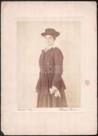 1917 Szeged, Tánzer Rózsi Fényképész Műtermében Készült Vintage Fotó, 22x16 Cm, Karton (sarkán Sérült) 34x24,5 Cm - Non Classificati