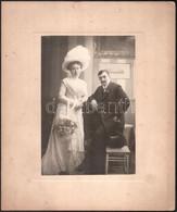 1909 Székesfehérvár, Dr. Keresztesék által Feliratozott, Vintage Esküvői Fotó, Szigeti Fényképész Hidegpecsétjével Jelez - Non Classificati