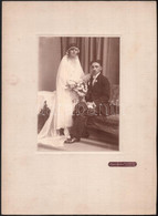 Cca 1924 Rákospalota, Bauer Ágoston Fényképész Műtermében Készült, Vintage Esküvői Fotó, 17,5x12,6 Cm, Karton 33x24cm - Non Classificati