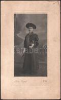 1908 Eger, Kiss József Fényképész Műtermében Készült, 2 Db Keményhátú, Vintage Fotó, Az Egyik Datált, A Karton Sarka Kis - Non Classificati