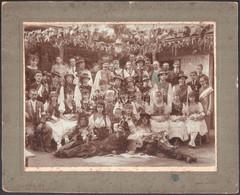 1918 Újpest, Szüreti Mulatság, Békési Fényképész Riport Felvétele, Feliratozott Vintage Fotó, 20x26,5 Cm, Karton 26,8x33 - Non Classificati