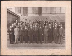 1939 Budapest, A Rádió Munkatársai, Knöpfler Gyula Fényképész Felvétele, Vintage Fotó, 17,5x23,5 Cm, Karton 22,5x29 Cm - Non Classificati