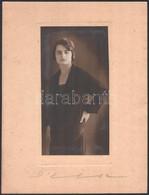 Cca 1928 Budapest, D'Else Modern Fotóművészeti Műteremben Készült Vintage Fotó, 22x11,5 Cm, Karton 32,5x25 Cm - Non Classificati