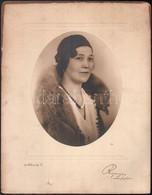 Cca 1935 Budapest, Rozgonyi Fényképész Műtermében Készült Vintage Fotó, 21x17 Cm, Karton 35,5x27,8 Cm - Non Classificati