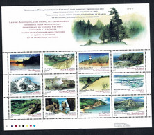 Canada  1993  -  Yv. 1316/27**, Algonquin Park, First National Park Founded In 1893  MNH - Blocks & Sheetlets