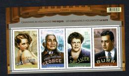 Canada  2008  -  Sc Bl 2279**  Canadiens In Hollywood Shearer, George, Dressler, Burr   MNH - Blocks & Sheetlets