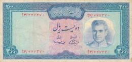 K32 - IRAN - Billet De 200 RIALS - Ancien Régime - Shah D'Iran - Iran