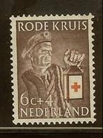 1953 - Nederland NVPH 608M Met Plaatfout Rood Scharnier Links In Lantaarn - Rode Kruis - Red Cross [A59_09b] - Plaatfouten En Curiosa