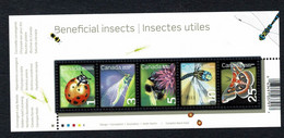 Canada  2010 -  Minisheet Beneficial Insects / Insectes Utiles   MNH - Blocks & Sheetlets