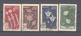 Maroc  :  Yv  320-22  +  Av  93  (o) - Gebruikt