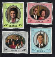 Jersey Royal Silver Wedding 4v 1972 MNH SG#81-84 - Jersey
